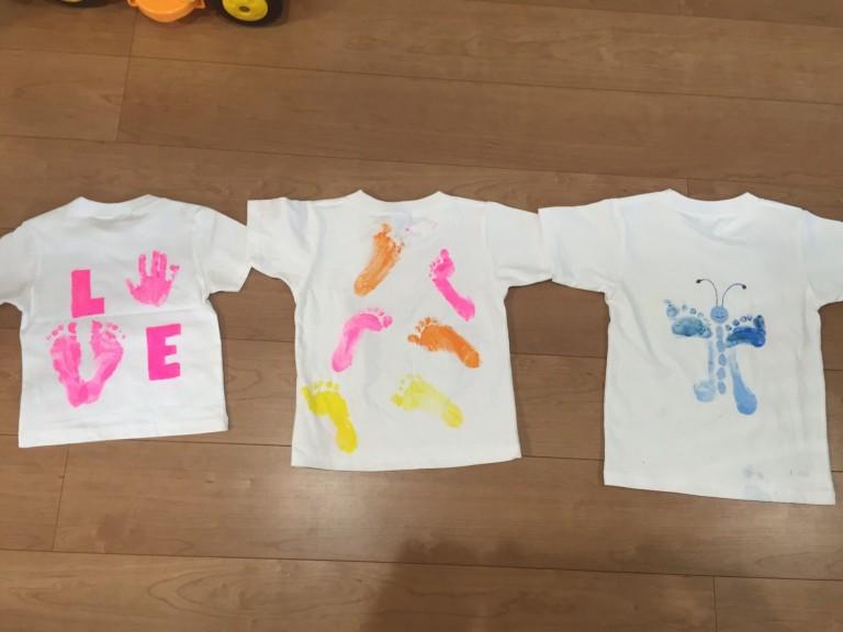 手形足形でオリジナルtシャツ制作